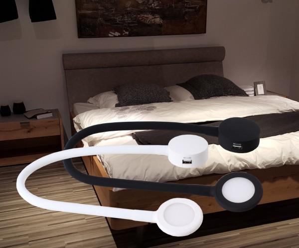 2x LED Bettlampen Bettleuchten Touch dimmbar weiß oder schwarz