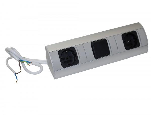 Kombi-Box Corner-Box 2x Steckdose, 1x Schalter 230Volt