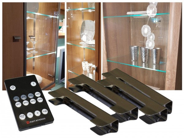LED Glasbodenbeleuchtung Set mit Funkfernbedienung Glaskantenbeleuchtung