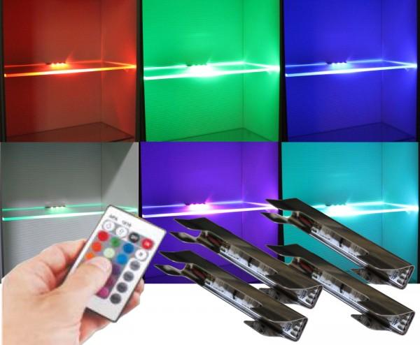 RGB LED Clips Glaskantenbeleuchtung mit Steuerung