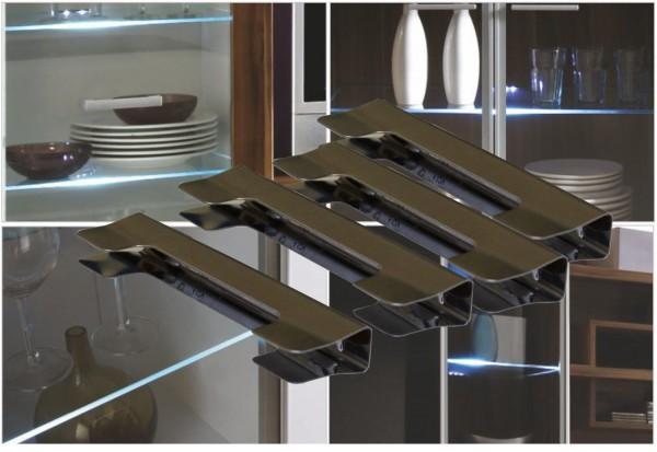 LED Glaskantenbeleuchtung Set mit Trafo Glasbodenbeleuchtung