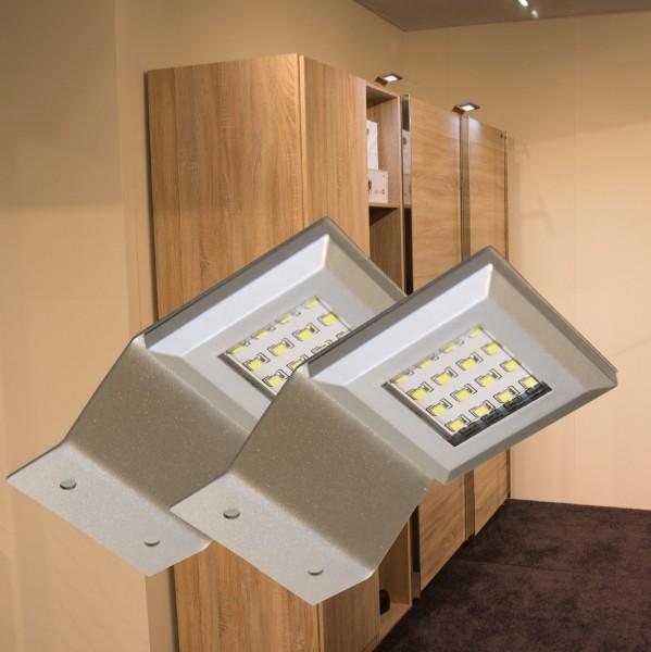 LED Aufbauleuchten 3000K Alu-silber Set mit Trafo