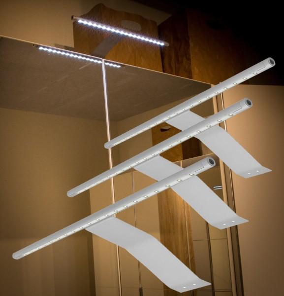 LED Aufbauleuchten 6000K Alu-silber Set mit Trafo