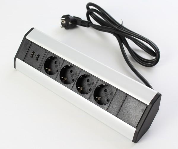 Corner-Box Energiebox 230 Volt 4x Steckdose 2x USB