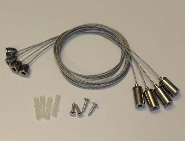 Seilabhängung für LED Panel 4-er Set