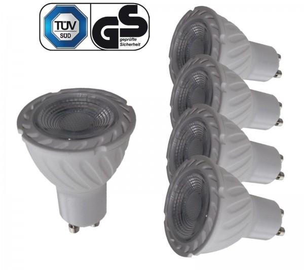 5X LED Leuchtmittel Spot GU10 7W 520LM 230V 3000K TÜV GS