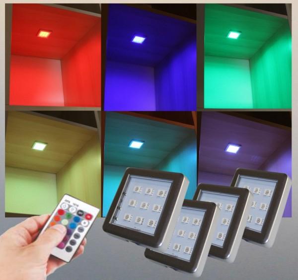 LED RGB Unterbauleuchten Schrankleuchten Set mit Steuerung