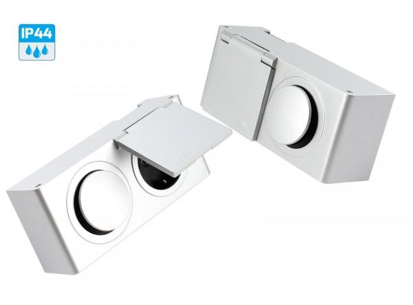 Kombibox Möbel Steckdose + Schalter 230 Volt Eingang und 230 Volt Ausgang