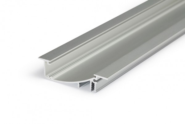 LED Profil FLAT8 H/UX 1000 Alu eloxiert