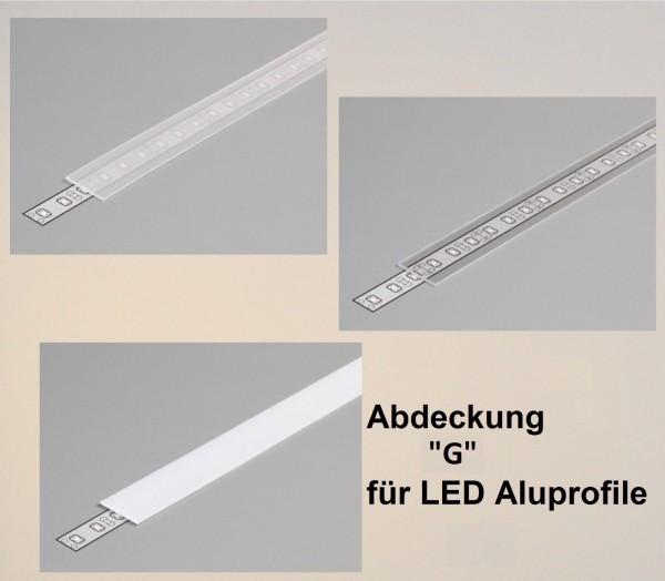 Abdeckung G 1000 weiß / satiniert / transparent (slick = slide/click)