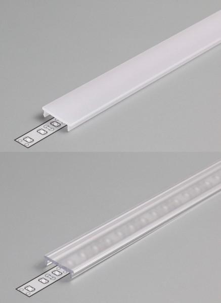 Abdeckung F 1000 weiß / transparent (click)