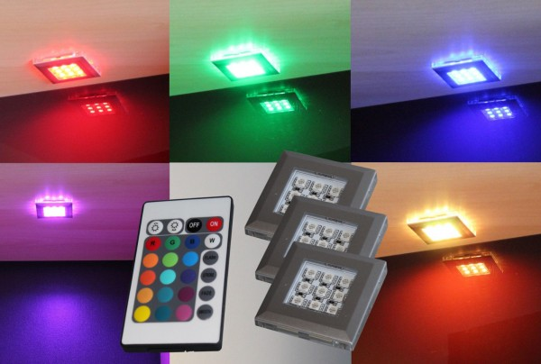LED RGB Unterbauleuchten Schrankleuchten Set mit Trafo
