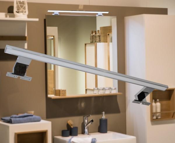 LED Spiegelleuchte XL Badleuchte Aufbauleuchte Chrom 9W 3000K / 6000K