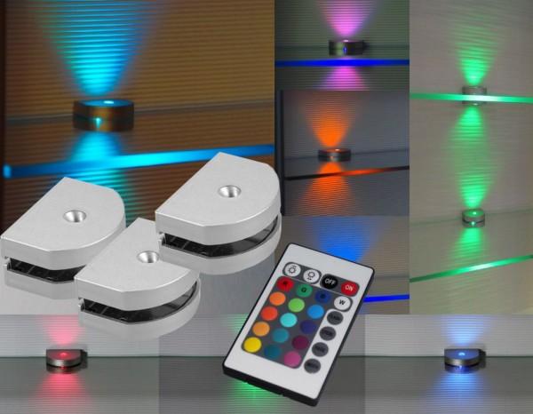RGB LED Clips 3-Seiten Glaskantenbeleuchtung mit Steuerung