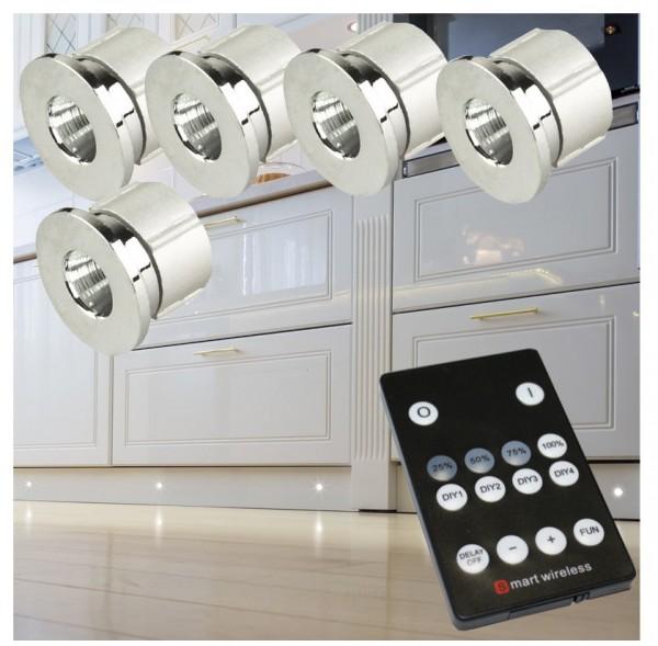 LED Punktleuchten Set mit Funkfernbedienung Punktlicht Einbaustrahler