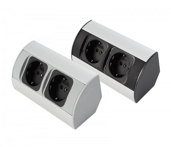 Corner-Box für Schrank Powerbox 230V Steckdose / Steckdose mit Kabel